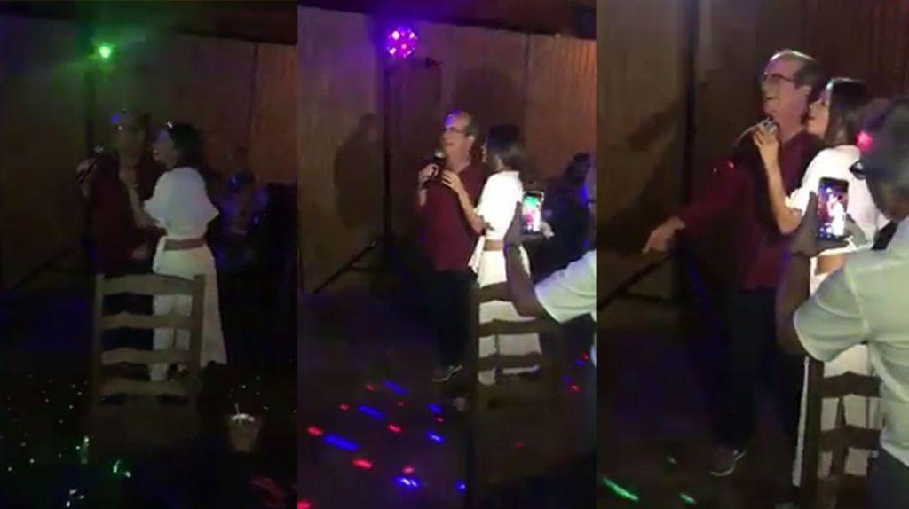 Video Fajaooo Aníbal Acevedo Vila Cantando En Karaoke Borracho Y Loco